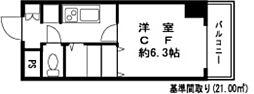 ドミール錦糸町2[414号室]の間取り