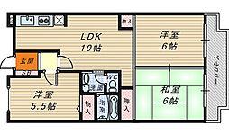 メゾンM香ヶ丘[1階]の間取り