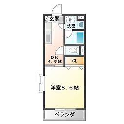 愛知県豊橋市西幸町字笠松の賃貸マンションの間取り