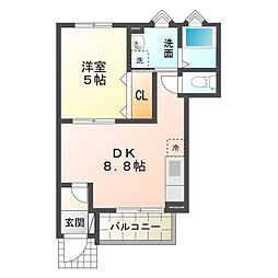 (仮称)洞町向山 賃貸住宅[1階]の間取り