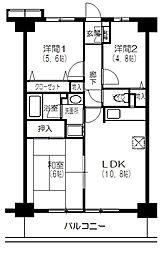 プラザサンタナカ7号館[7階]の間取り