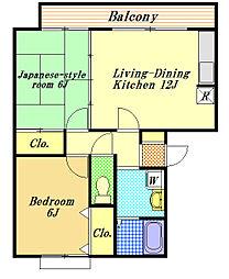 ミルフィーユ壱番館[3階]の間取り
