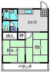 神奈川県横浜市保土ケ谷区藤塚町の賃貸アパートの間取り