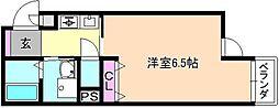 ハッピーアウル[5階]の間取り