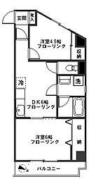 エクセルピア鹿島田[2階]の間取り