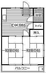 禅院コーポI[1階]の間取り