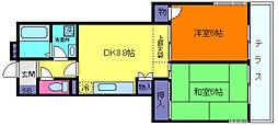 エスポワール魚崎[3階]の間取り