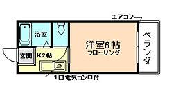 大阪府豊中市宝山町の賃貸アパートの間取り