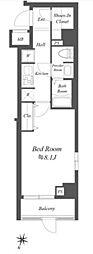 JR中央線 荻窪駅 徒歩14分の賃貸マンション 1階1Kの間取り