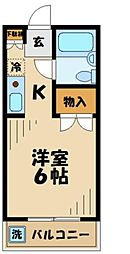 東京都八王子市堀之内の賃貸マンションの間取り
