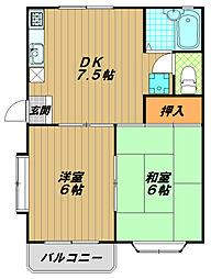 シャトル東須磨[2階]の間取り