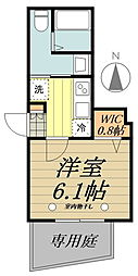 JR中央線 吉祥寺駅 徒歩9分の賃貸マンション 1階1Kの間取り