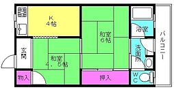 聖寿荘[202号室]の間取り