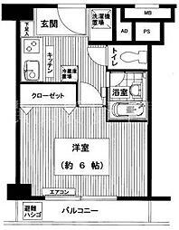 パピリオーテ西横浜[302号室]の間取り