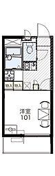 新潟県新発田市豊町4丁目の賃貸マンションの間取り