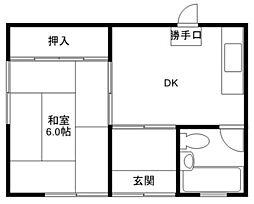 山本ハウス[1階]の間取り