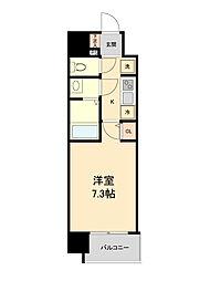 JR東北本線 仙台駅 徒歩10分の賃貸マンション 10階1Kの間取り
