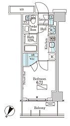 パークアクシス横濱大通り公園 4階1Kの間取り