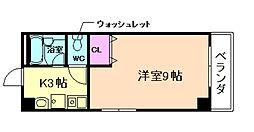 大阪府豊中市曽根東町3丁目の賃貸マンションの間取り