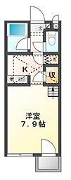 愛知県豊橋市大岩町字北山の賃貸アパートの間取り