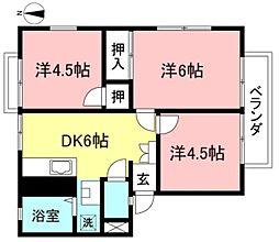 メゾンシライト[1階]の間取り