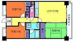 グレイスハイツ六甲(徳井町)[2階]の間取り
