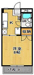 メゾン咲田[303号室]の間取り