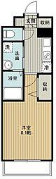 西武新宿線 新所沢駅 徒歩5分の賃貸マンション 1階1Kの間取り