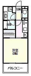 神奈川県川崎市多摩区中野島5丁目の賃貸マンションの間取り
