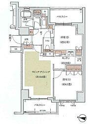 東京都世田谷区上馬5丁目の賃貸マンションの間取り