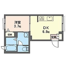 PRO BUN'S 千川 2階1DKの間取り