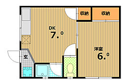 甲南荘[2階]の間取り