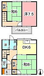 [一戸建] 岡山県倉敷市上富井 の賃貸【/】の間取り