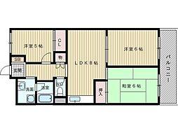 メゾン新千里[2階]の間取り