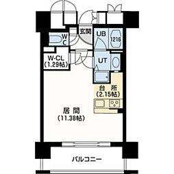 札幌市営南北線 幌平橋駅 徒歩4分の賃貸マンション 9階1Kの間取り