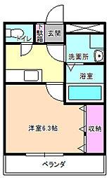 大阪府枚方市招提南町3丁目の賃貸マンションの間取り