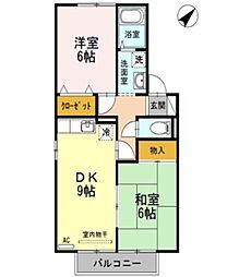 セジュール中村 B棟[1階]の間取り