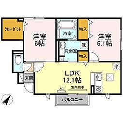 仮)D-room杉山[1階]の間取り