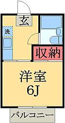千葉県千葉市緑区おゆみ野中央3丁目の賃貸アパートの間取り