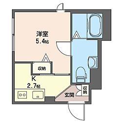 グランメゾン 神楽坂 2階1Kの間取り