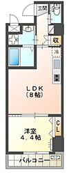堺市北区新金岡町新築マンション 1階1LDKの間取り