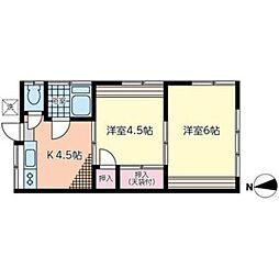 ヒカリハイムパートIII[1階]の間取り