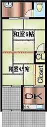 [テラスハウス] 大阪府大阪市平野区加美東4丁目 の賃貸【/】の間取り
