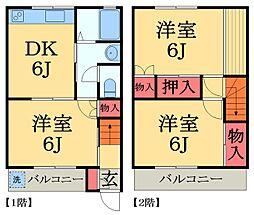 [テラスハウス] 千葉県大網白里市駒込 の賃貸【/】の間取り