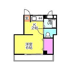 メゾン日吉[402号室]の間取り