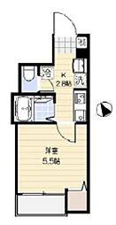 JR京浜東北・根岸線 大宮駅 徒歩8分の賃貸アパート 1階1Kの間取り