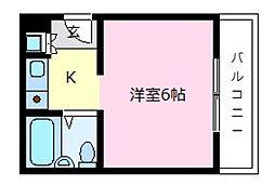 フレッシュライフ[3階]の間取り
