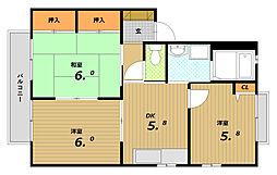 ハイツフォーレ[2階]の間取り