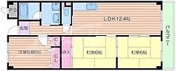 JR東海道・山陽本線 岸辺駅 徒歩14分の賃貸マンション 1階3LDKの間取り