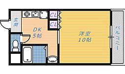 フルーリ深井[4階]の間取り